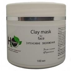 """Крем-маска белая глина и фукогель """"Зволожуюча"""", H2organic, 100ml"""